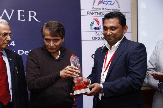 Accepting the India Power Award